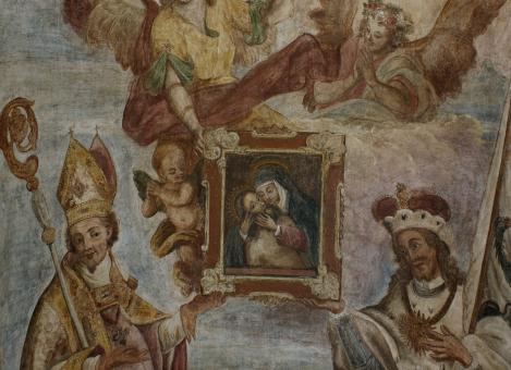 po restaurování - oltář sv. Václava a sv. Vojtěcha
