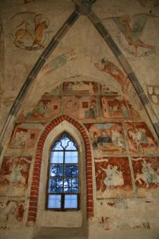 cyklus moralit na jižní stěně sakristie