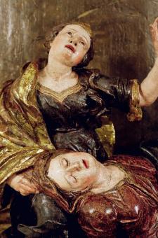 stav po restaurování - Panna Marie s Máří Magdalénou